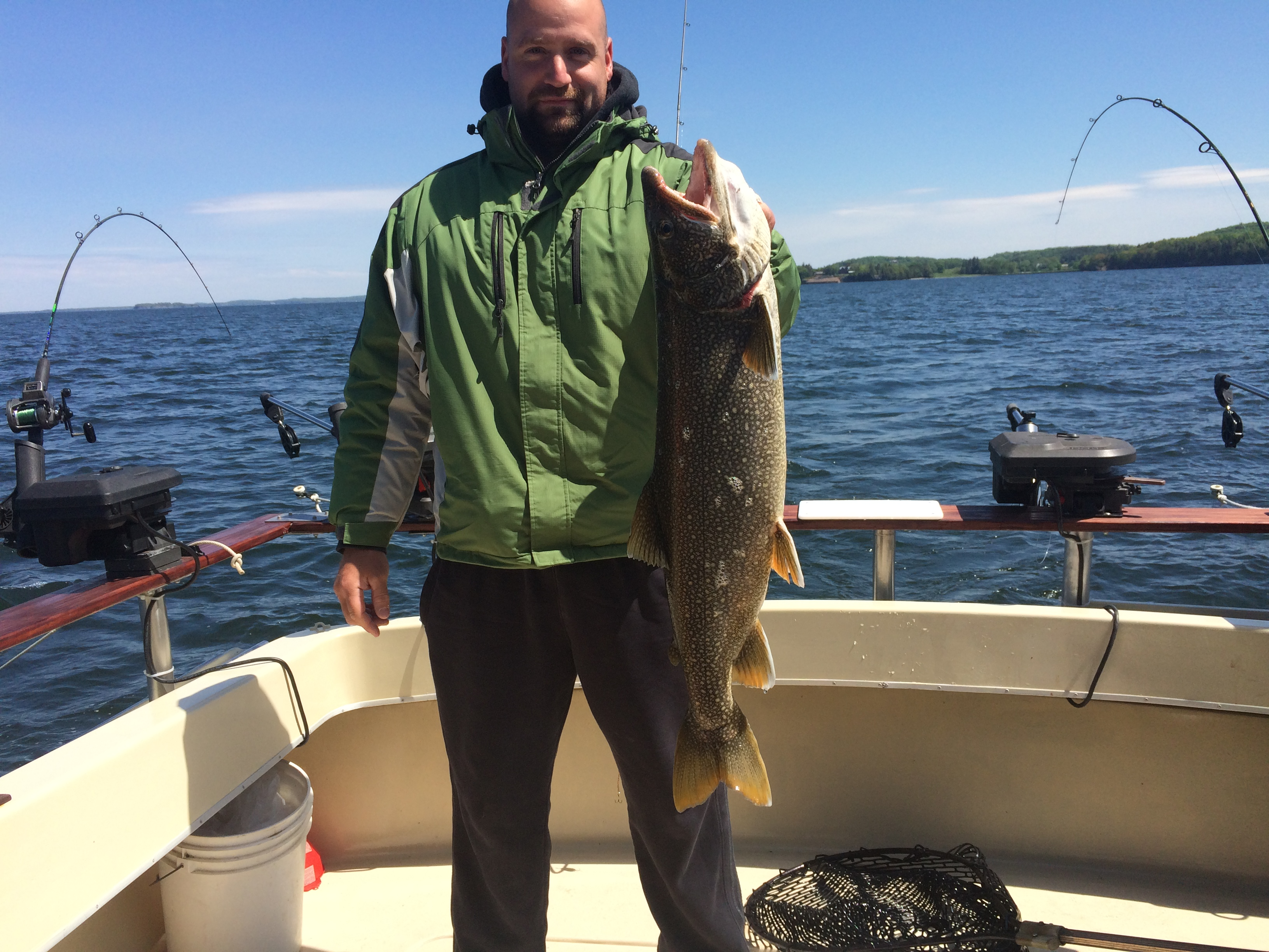 lake trout fishing charters lake champlain vermont